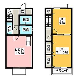 DUPLEX伊藤 A棟[1階]の間取り