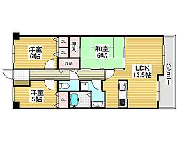 レックスシティ堺駅前[5階]の間取り