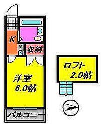 メゾントヤマ[203号室]の間取り