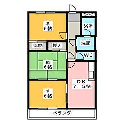 クレストールB棟[2階]の間取り
