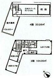ランドフォレスト西新井[3F・4F号室]の間取り