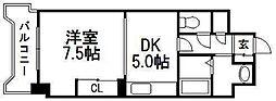 ドミ18ロイヤル[2階]の間取り