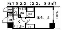 エスプレイス大阪城SOUTH(サウス)[503号室号室]の間取り