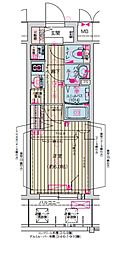 Osaka Metro堺筋線 天神橋筋六丁目駅 徒歩7分の賃貸マンション 7階1Kの間取り
