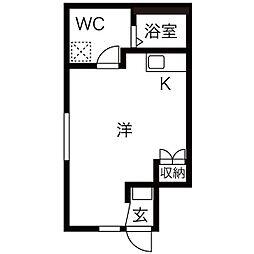 グリュック鳴海[2階]の間取り