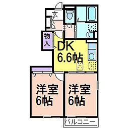 アニメート・ヴィラE棟[1階]の間取り