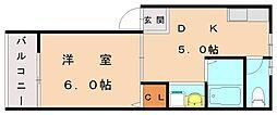 レクサス翔陽[1階]の間取り