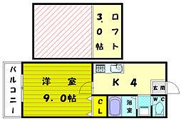 ガーデン恵比寿B[2階]の間取り
