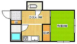 エデン荘[1階]の間取り