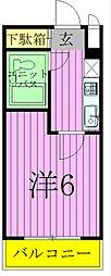 シティハイツ松戸[510号室]の間取り