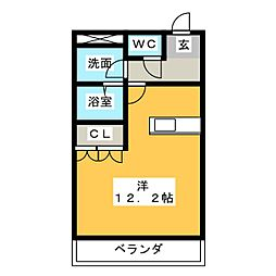 サンシャトレーンII[2階]の間取り