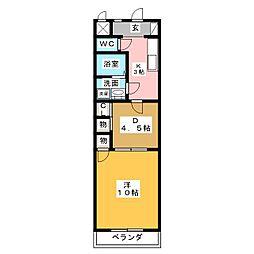ロフティー31[4階]の間取り