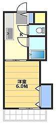 アルムクイーン高坂[4階]の間取り