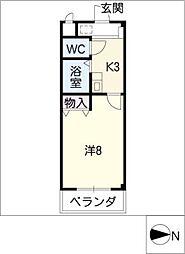 シャトレ浦里[2階]の間取り
