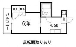 レスポワール東高須[2階]の間取り