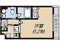 Ritz小阪[609号室]の間取り
