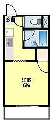 愛知県豊田市朝日町3丁目の賃貸アパートの間取り