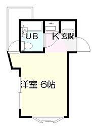 ユースランドA棟[1階]の間取り