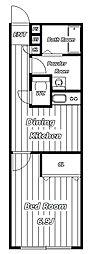 レジデンス新田[2階]の間取り
