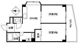 神奈川県横浜市中区本郷町1丁目の賃貸マンションの間取り