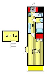 ソフィアスエヒロ[4階]の間取り