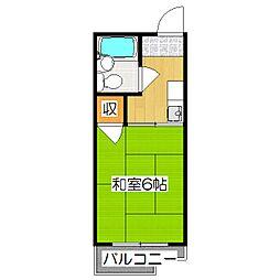 京都府京都市伏見区桃山最上町の賃貸アパートの間取り