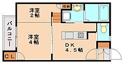 コンフォール石坂[2階]の間取り