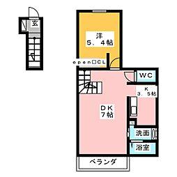 サニーアベニュー[2階]の間取り