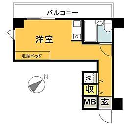 東京都世田谷区梅丘1丁目の賃貸マンションの間取り