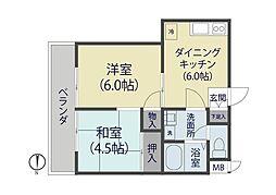 埼玉県草加市柳島町の賃貸マンションの間取り