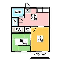 カーサ幹I[2階]の間取り