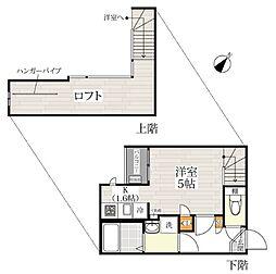 CB川越カローレ[1階]の間取り