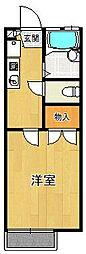 レオパレス白糸[2階]の間取り