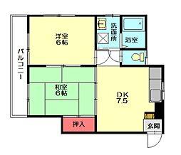 サンフラワー須恵[2階]の間取り