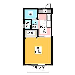 植木ハイツIII[1階]の間取り