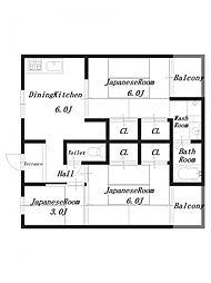 ビレッジハウス見瀬1号棟[3階]の間取り
