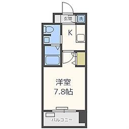 レジュールアッシュ南堀江[6階]の間取り
