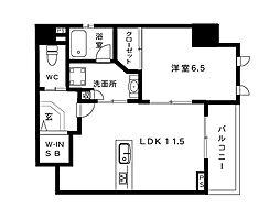 LAFFICE住吉本町[4階]の間取り