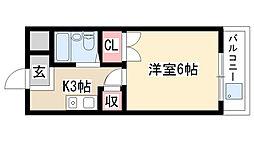 愛知県日進市赤池町箕ノ手2丁目の賃貸アパートの間取り