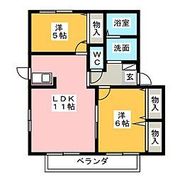ステラメゾン A棟[2階]の間取り