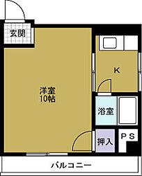 CT本田ハイツ[4階]の間取り