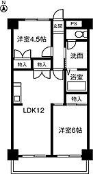 第3サンヨーマンション[203号室]の間取り