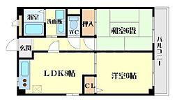 グランディール江坂C棟[1階]の間取り