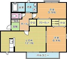 咲ら小路 D棟[2階]の間取り