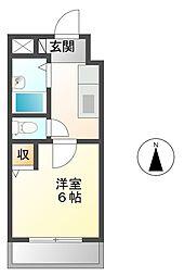 ローズコーポ阪神尼崎[10階]の間取り