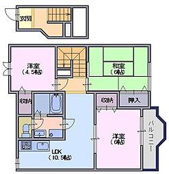 シャトーローリエA[2階]の間取り