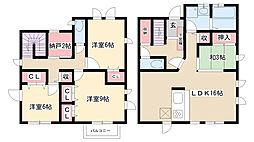 [一戸建] 愛知県名古屋市昭和区八事富士見 の賃貸【/】の間取り