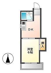 八田さかえビル[5階]の間取り