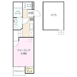 アンピオ 次郎丸[1階]の間取り