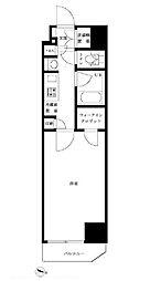 JR総武線 東中野駅 徒歩8分の賃貸マンション 1階1Kの間取り